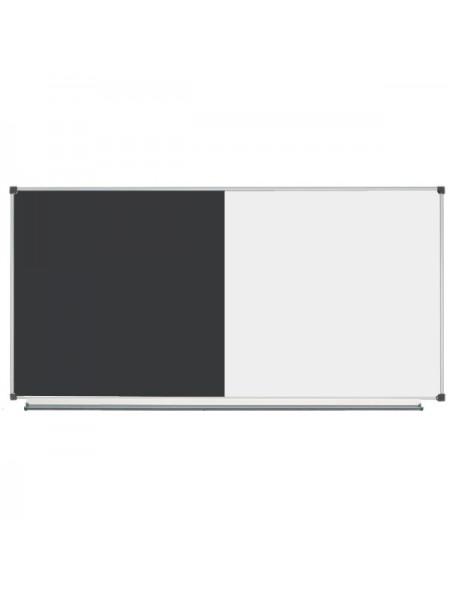 Комбинированная доска маркерная меловая, 200х100 см (с черной поверхностью)