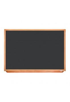 Грифельная доска чёрная в деревянном профиле, 150х100 см