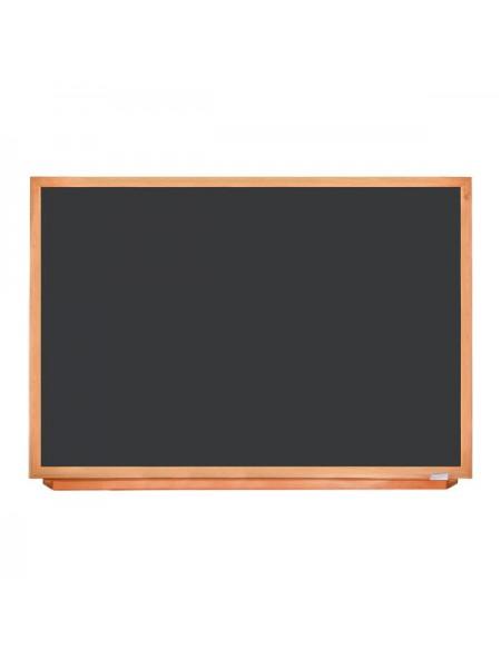 Школьная доска чёрная в деревянном профиле КЛАССИК, 150х100 см