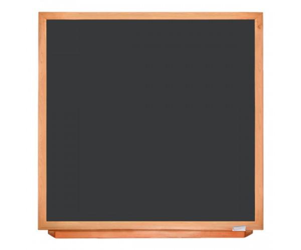 Школьная доска в деревянном профиле КЛАССИК, 100х100 см