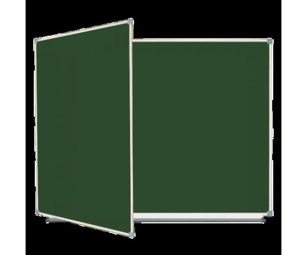 Школьная доска магнитная меловая, 3 пов., 225x100 cм