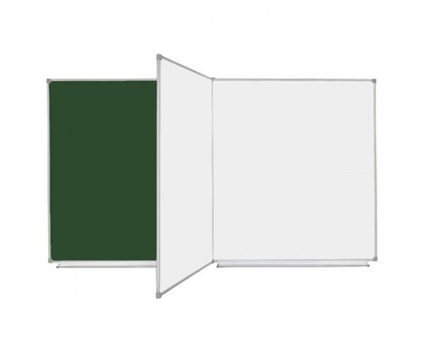 Школьная доска магнитная комбинированная, 4 пов., 200х100 см, УЦЕНКА №83