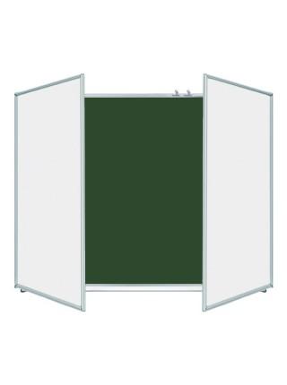 Школьная доска ЭРУДИТ меловая/маркерная/комбинированная, 300х100 cм, УЦЕНКА №35