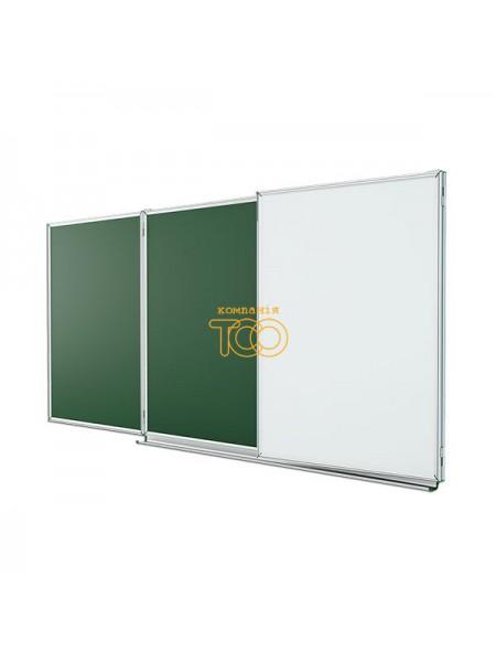 Школьная доска ЭРУДИТ меловая/маркерная/комбинированная, 400х100 cм