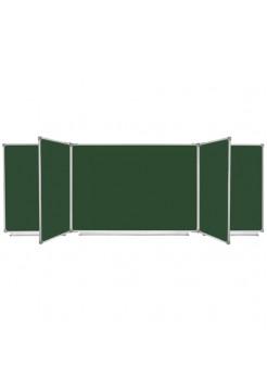 Школьная доска магнитная меловая, 7 пов., 400x100 см