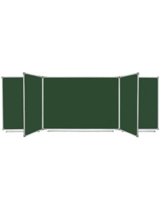 Школьная доска магнитная меловая, 7 пов., 400х100 см