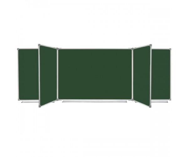 Школьная доска магнитная меловая, 7 пов., 300x100 см