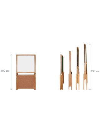 Мольберт-трансформер комбинированный 50х50 см