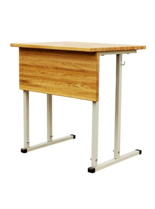 Convertible Single-Seater Desk EXCLUSIVE with Horizontal Wood Table Top