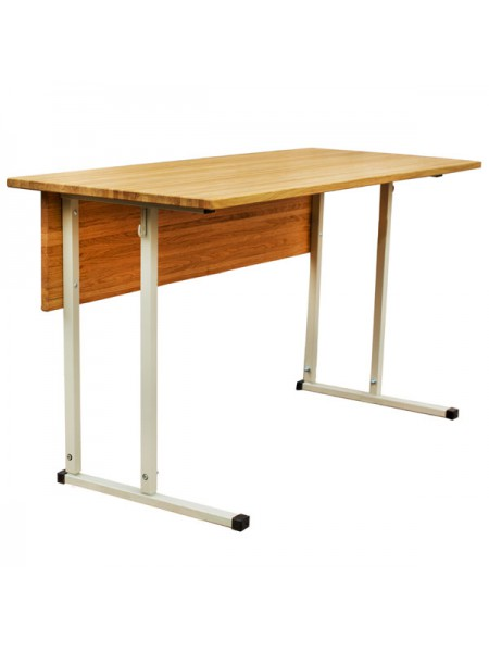 Convertible Double-Seater Desk EXCLUSIVE with Horizontal Wood Table Top
