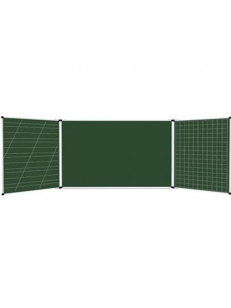 Школьная доска расчерченная 2/5 меловая/маркерная/комбинированная, 400х100 cм