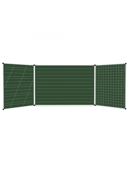 Школьная доска расчерченная 3/5 меловая/маркерная/комбинированная, 400х100 cм