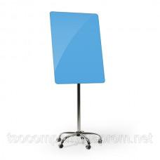Флипчарт мобильный стеклянный (голубой)