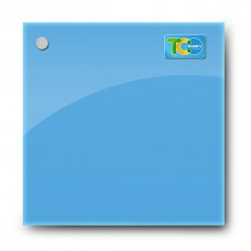 Стеклянная магнитно-маркерная доска (Голубой цвет) 1000*1000 мм