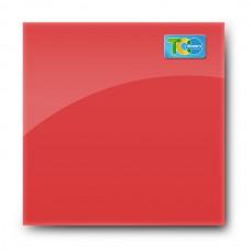 Стеклянная магнитно-маркерная доска (Красный цвет) 1000*1000мм