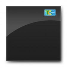 Стеклянная магнитно-маркерная доска (Чёрный цвет) 1000*1000мм