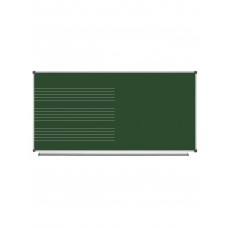 Magnetic Chalk Classroom Board  Music Half-board Staff, 200х100 сm