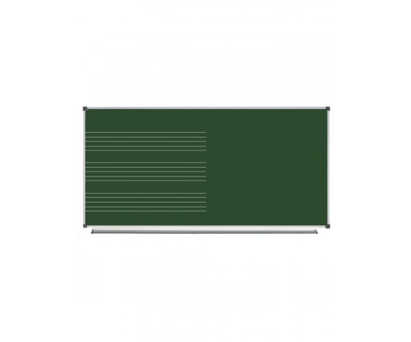 Magnetic Chalk Classroom Board  Music Half-board Staff, 200х100 сm