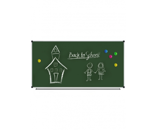 Magnetic Chalk Classroom Board, 2400х1200 mm