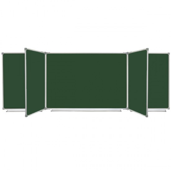 Magnetic Classroom Chalk Board with 7 surfaces, 300x100 cm