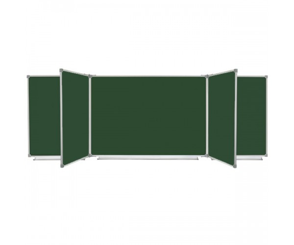 Magnetic Chalk Classroom Board, 7 surfaces, 400x100 cm