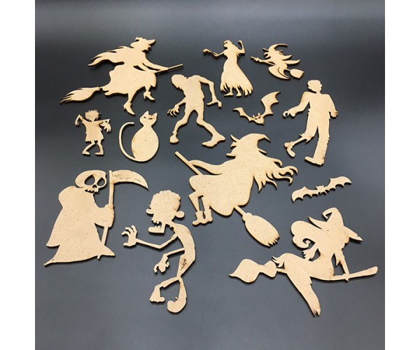 """A set of home decorations """"HELLO HELLOWEEN 2019"""""""