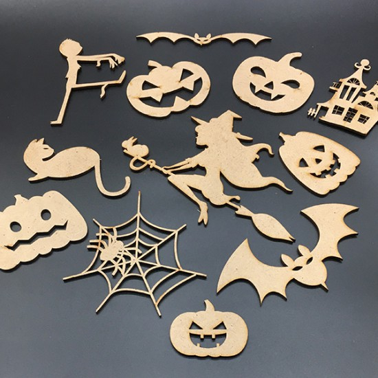 "A set of home decorations ""HELLO HELLOWEEN 2019"""