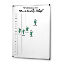 "Whiteboard with ""Who is daddy today?"", 1000х700 mm"