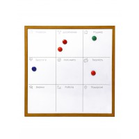 Magnetic marker whiteboard, 40x40 cm