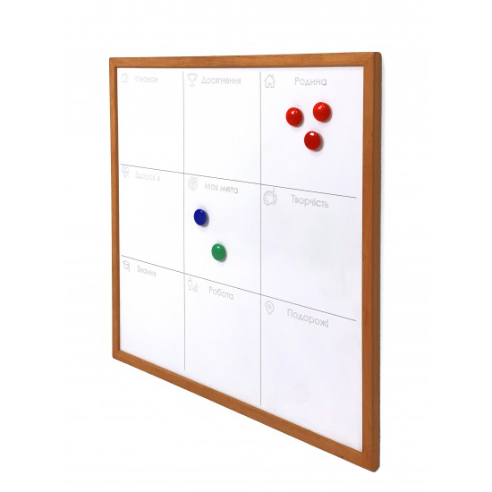 Magnetic marker whiteboard, 40x40 cm