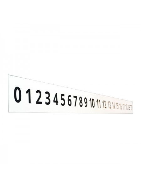 Line of numbers 200х15 сm