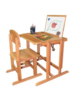 Children's desk easel + adjustable children's chair + children's set 40x50 cm