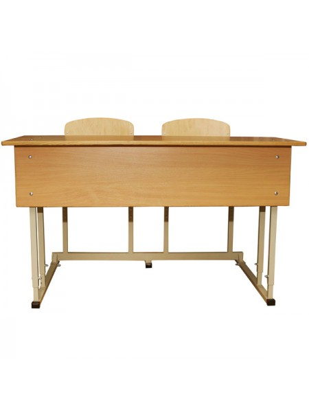 Convertible Two-Seater Solid Desk STANDART With Horizontal Table Top