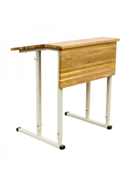 Convertible Single-Seater Desk EXCLUSIVE with Inclined Wood Table Top