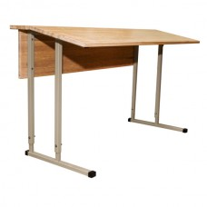 Convertible Double-Seater Desk EXCLUSIVE with Inclined Wood Table Top