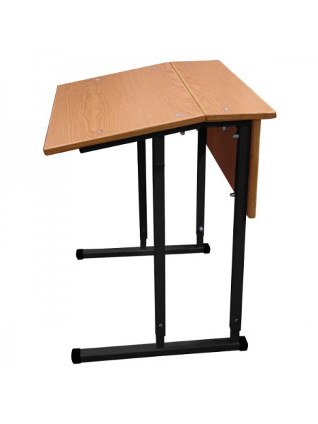 Convertible Single-Seater Desk GARANT With Inclined Table Top And Wood Facing