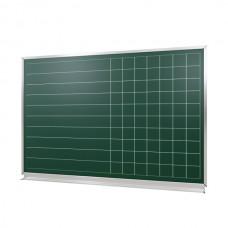 "Board in aluminum profile ""New standart"" chalk - magnet ""LINE + CELL"" 2000*1000 mm"