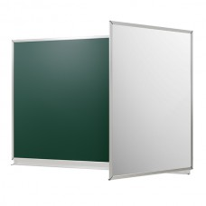 "Chalk marker board in the aluminum shape ""New standard"", 3000 * 1200 mm, 3-surface"