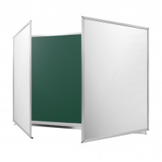 "Cretaceous-writable magnetic board in the ""New standart"" aluminum profile, 4000*1200мм, 5-surface"