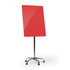 Flipchart mobile glass (red)