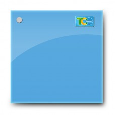 Glass whiteboard board (blue color)