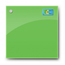 Glass magnetic whiteboard (green color)