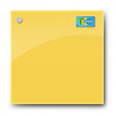Glass magnetic whiteboard (Yellow)