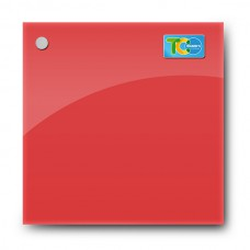 Glass magnetic whiteboard (Red)