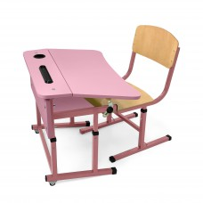 Kit + desk chair single with a shelf for NSE (Flamingo)