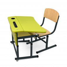 Kit + desk chair single with a shelf for NSE (Lime)