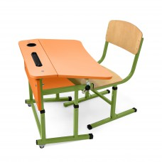 Kit + desk chair single with a shelf for NSE (Orange)