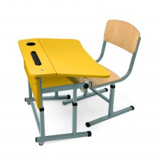 Kit + desk chair with a single flange for NSE (yellow)