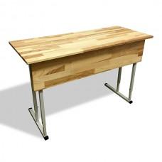 "A desk double transformer ""EXCLUSIVE"" horizontal wooden top"
