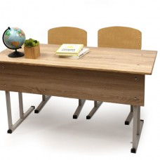 """Set of desk + 2 chairs student double """"guarantee"""" with two adjustable chairs"""